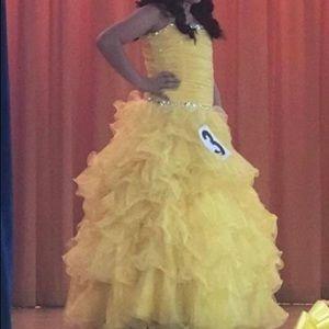Gorgeous Yellow Tiffany Pageant Dress